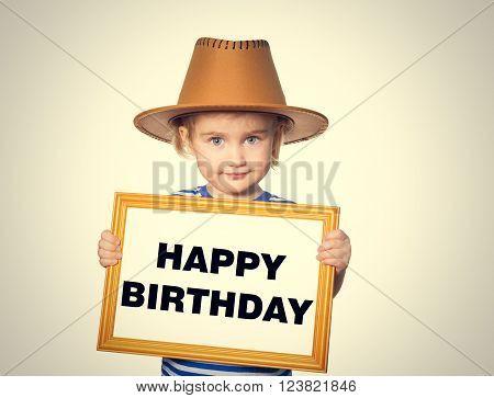 Text  Happy Birthday.