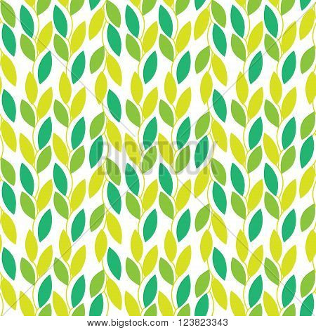 Seamless vector seamless pattern with leaves vines. Unique and elegant seamless nature background with leaves