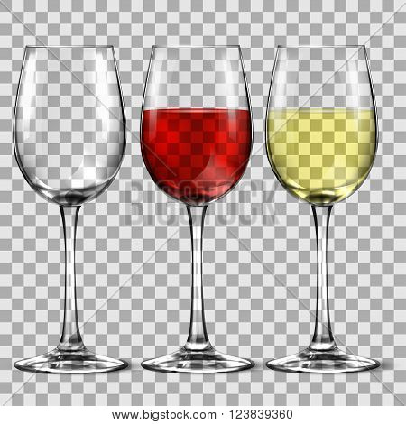 with wine glass isolated on a white background vector illustration.
