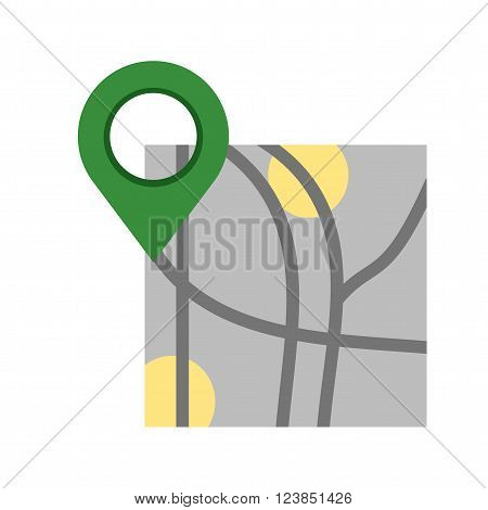 Map, roadmap, route icon vector image.Can also be used for maps navigation. Suitable for mobile apps, web apps and print media.