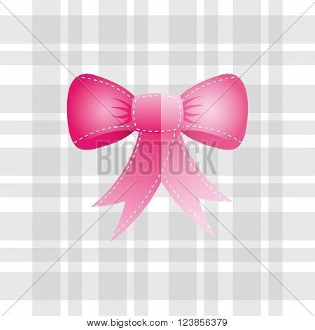 bown pink design, vector illustration eps10 graphic
