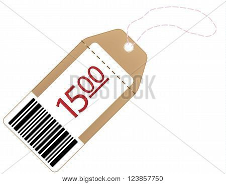 Tag with the specified price on a white background. Eps 10 vector file.