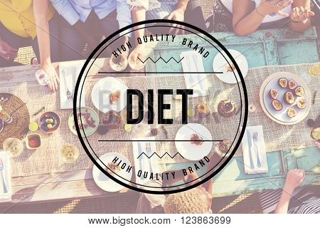 Diet Nutrition Obesity Weight Loss Healthy Food Concept poster