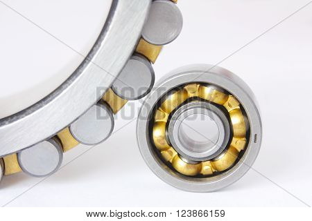 It shows two radial - thrust bearings on a white background