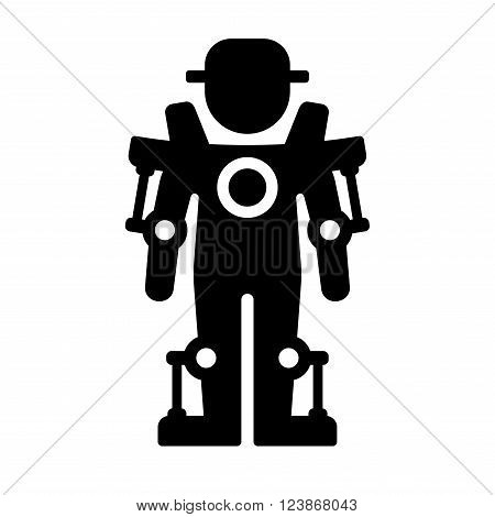 Exoskeleton Icon on White Background. Vector Illustration