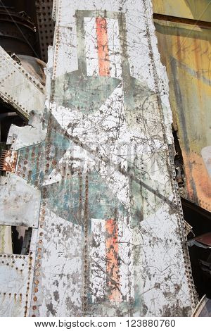Airplane wreckage