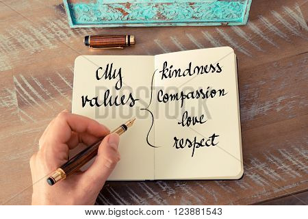 My Values Kindness, Compassion, Love, Respect
