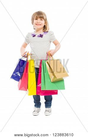 Happy And Young Shopping Girl