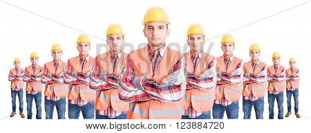 Organized Team Of Builders Or Construction Workers