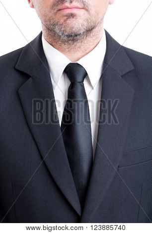 Black Suit And Tie With White Shirt