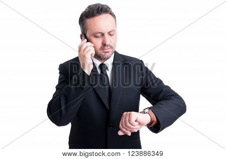 Busy Business Man Checking Watch