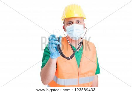 Construction Site Medic Or Doctor