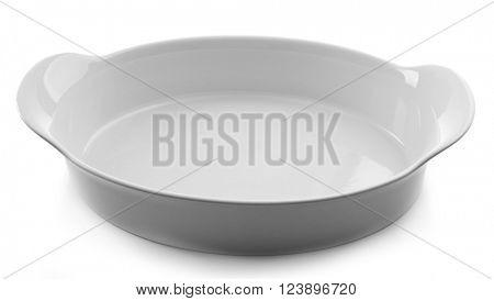 ceramic baking dish, isolated on white