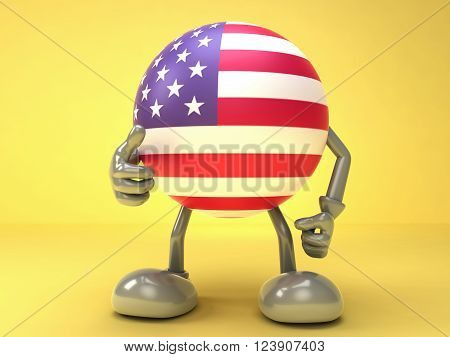 The successful cooperation with the US , US flag