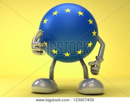 Successful cooperation with EU , EU flag