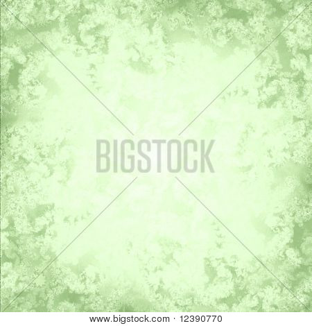 A soft pastel green fractal background rendered with a cross sketch pattern