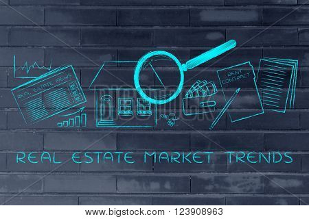 House, Real Estate Data And Rent Contract, Real Estate Market Trends