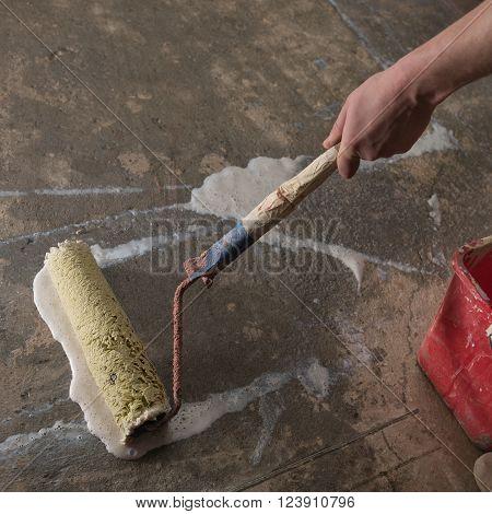 Priming Concrete Floor