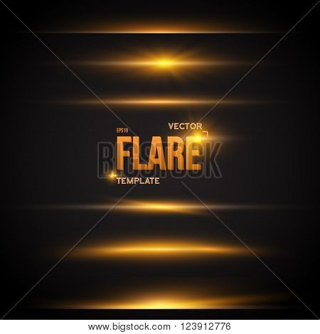 Illustration of Vector Flare Effect. Transparent Vector Overlay Lens Flare Ray Effect. Vector EPS10 Bright Sunflare Explosion Template