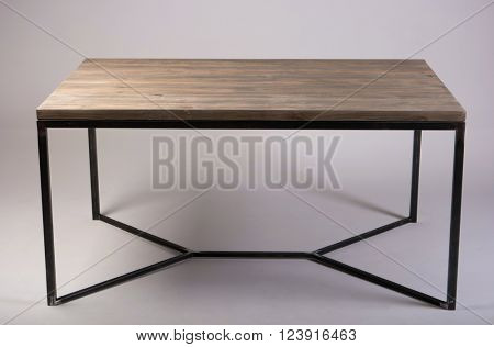 modern wooden table studio shot