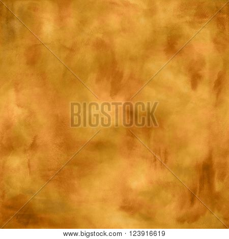 Abstract boho ocher watercolor golden blurred background poster