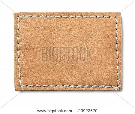 Blank Leather Jeans Label