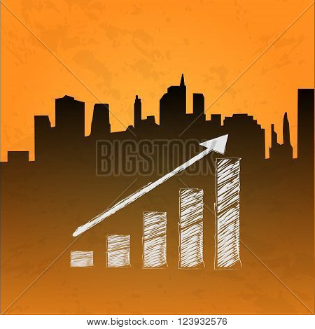 Reaching. Business concept illustration growth up diagram