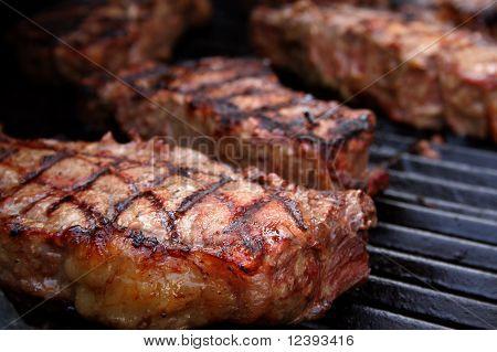 Barbecued Steaks