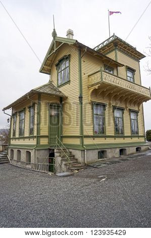 Bergen, Norway - May 06, 2013: Edvard Grieg's home