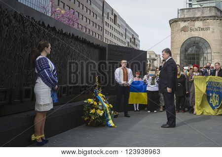 President Of Ukraine Poroshenko During Working Visit To Washington, Usa
