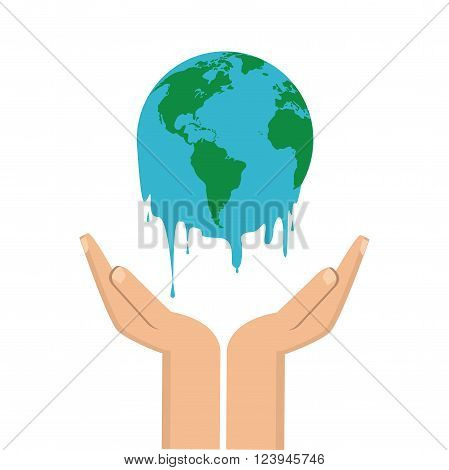 Global warming concept with icon design, vector illustration 10 eps graphic
