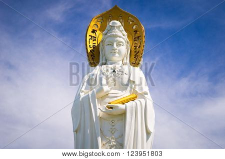 The Guan Yin of the South Sea of Sanya is a 108-metre statue of the bodhisattva Guan Yin, located near the Sanya City on Hainan Island, China.