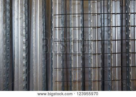 reinforced concrete slab with sheet metal formwork