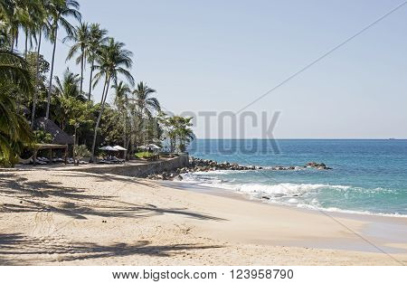 Beach hideaway by the Pacific Ocean near Puerto Vallarta, Mexico