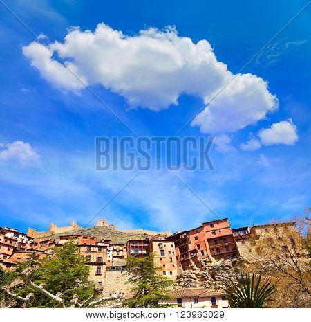 Albarracin medieval town in Teruel world heritage at Spain