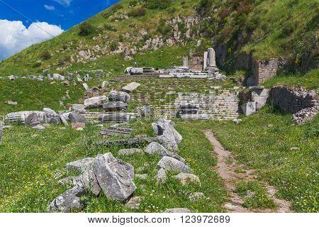 Temple of Dionysus Pergamon Bergama Izmir Province Turkey