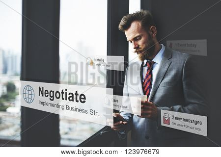Negotiate Agreement Compromise Reconcile Concept