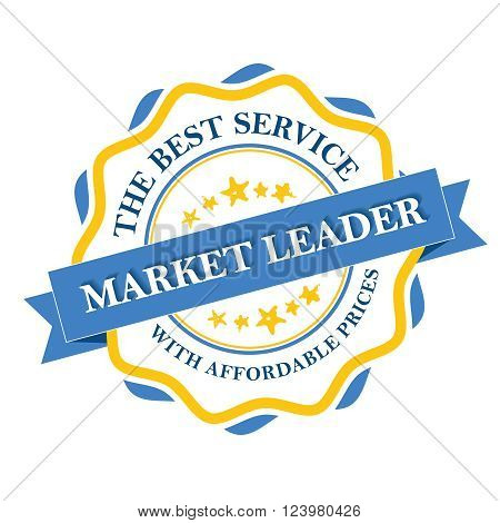 Market leader - the best service with affordable prices label. Print colors used