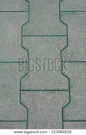Closeup photo of pattern of rubber floor