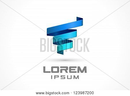 Icon design element. Abstract logoidea for business company.  Spiral, spring, technology, growth and medical concepts. Pictogram for corporate identity template. Stock Illustration Vector