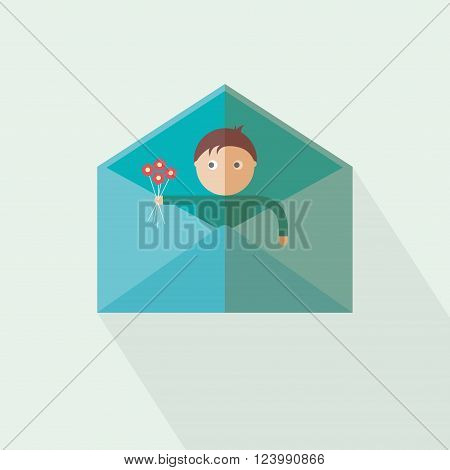 Love you have got mail. new massage. vector
