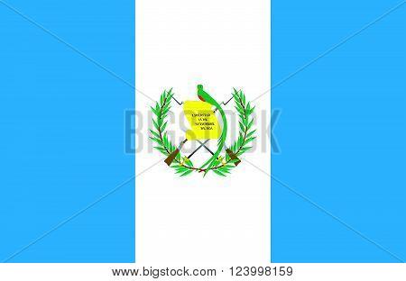 Nice drawing of amazing horizontal Guatemalan flag.