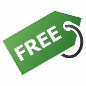 Free Tag vector toolbar icon for software design. Style is gradient icon symbol on a white background. poster