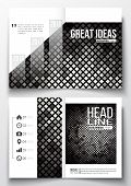 Set of business templates for brochure, magazine, flyer, booklet or annual report. Abstract polygonal background, modern stylish sguare design silver vector texture. poster