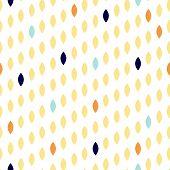 Simple drop polka dot yellow shape seamless pattern. Vector geometric row background. Polkadot pattern. Dotted scandinavian ornament. poster