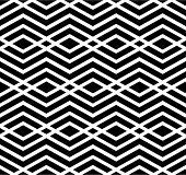 Contrast geometric seamless pattern with symmetric ornament. Rhombus graphic contemporary background. Splice black and white infinite backdrop. poster