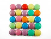 lots of colorful candies isolated on white background poster