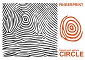Black fingerprint. Fingerprint shape. Fingerprint secure. Fingerprint identification. ID fingerprint. Push fingerprint for unlock. Fingerprint pressure. Fingerprint vault. Vector Fingerprint. poster