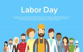 People Group Different Occupation Set, International Labor Day Flat Vector Illustration poster