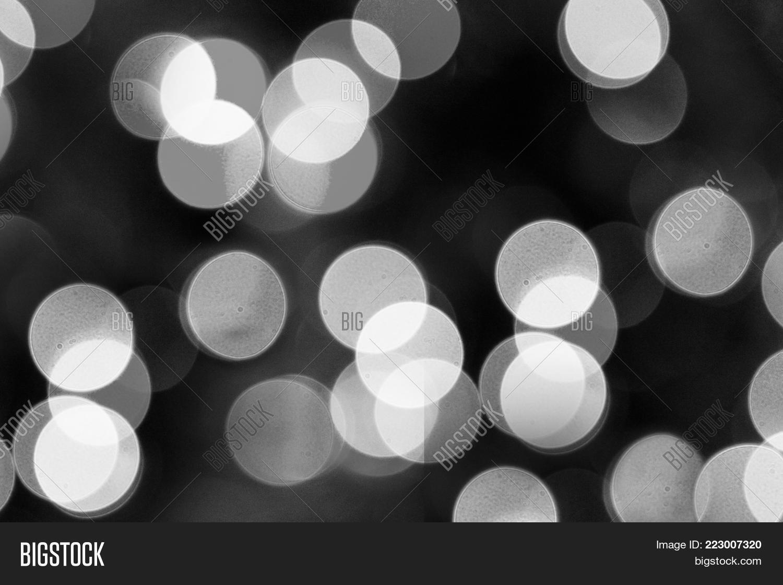 White Bokeh On Black Image Photo Free Trial Bigstock